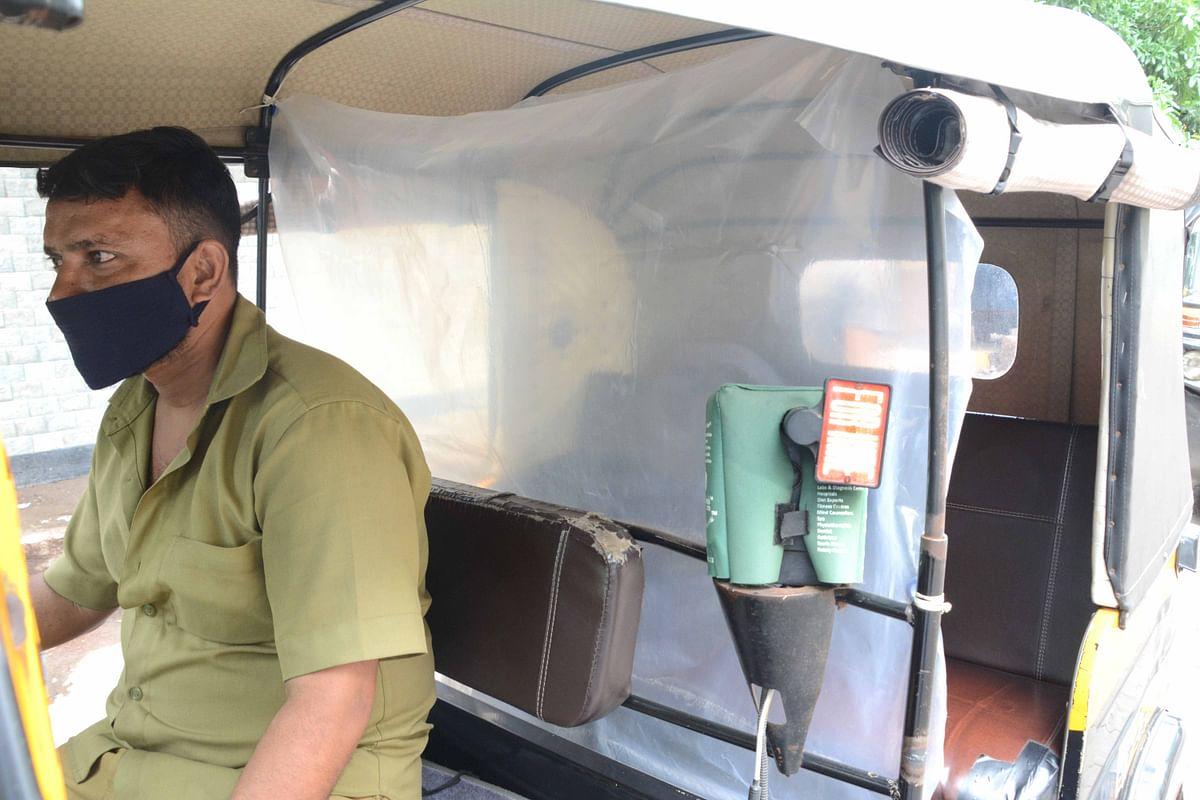 Coronavirus in Mumbai: Auto rickshaws hit roads with makeshift curtains