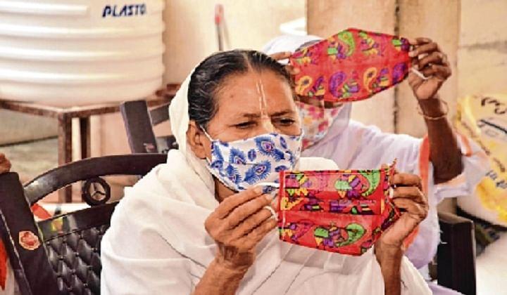 Vrindavan widows make designer masks to combat Coronavirus