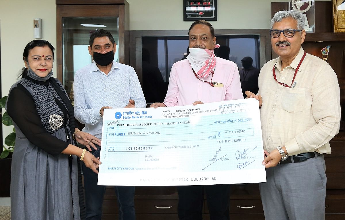 NHPC provides financial assistance of Rs. 2 lakh to the Red Cross Society