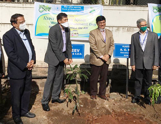 Bank of Maharashtra observes World Environment Day 2020
