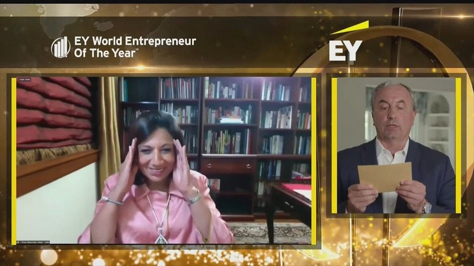 Kiran Mazumdar-Shaw becomes first Indian women to win EY World Entrepreneur Of The Year 2020