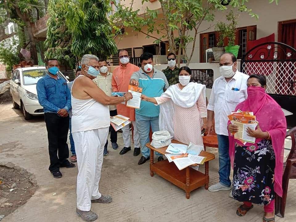 Ujjain: BJP highlights achievements of Modi govt 2.0 by distributing pamphlets
