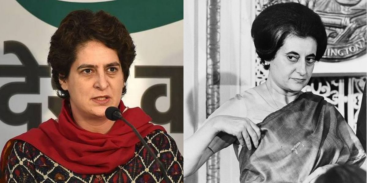 'Is that your claim to fame?': Twitter ridicules Priyanka Gandhi Vadra's 'Main Indira Gandhi ki poti hun' line