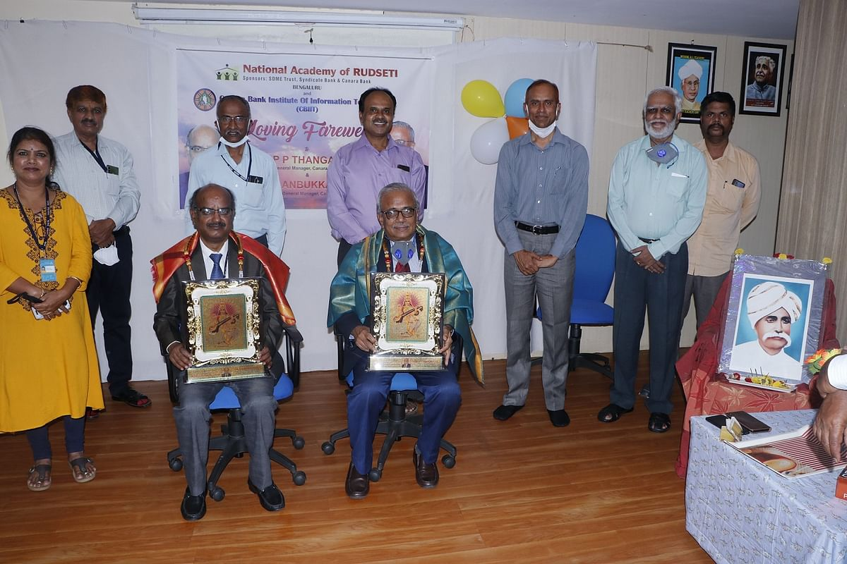 Canara Bank Sr Executives felicitated