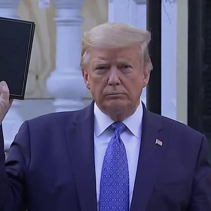 Donald Trump criticised for photo shoot outside St John church in Washington holding a Bible amid protests