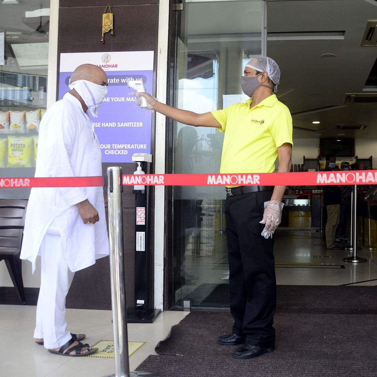 Bhopal: Business remained lean at malls with only a few people stepping out to shop and eat