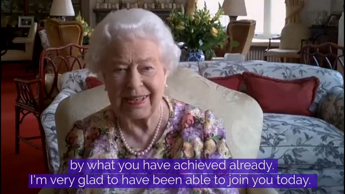 Screenshot of video released by Buckingham Palace on June 11, 2020.