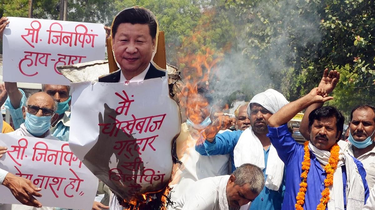 India-China face-off at Galwan Valley: Bhopal trader's body launch 'I boycott Chinese goods' sticker campaign