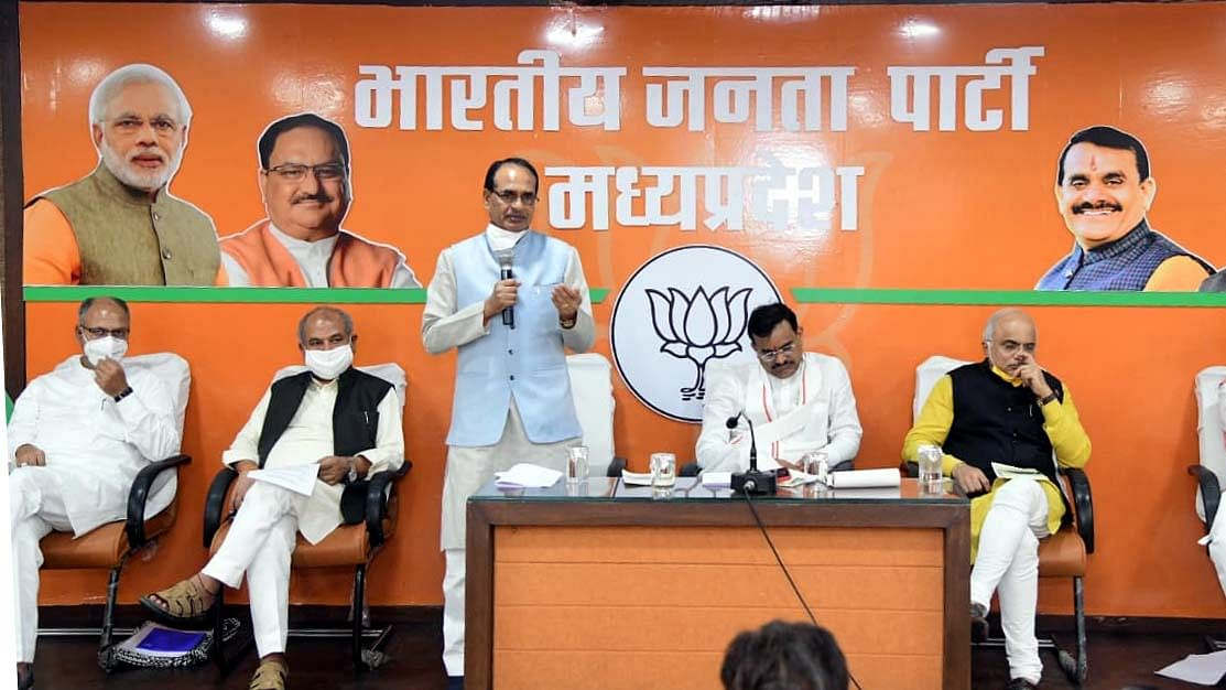 Madhya Pradesh: BJP discusses Rajya Sabha election strategy, cabinet expansion