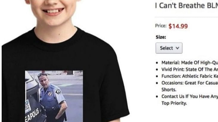 Amazon pulls down 'I can't breathe' t-shirt showing George Floyd's death