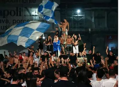 Health officials call celebrating Napoli fans reckless