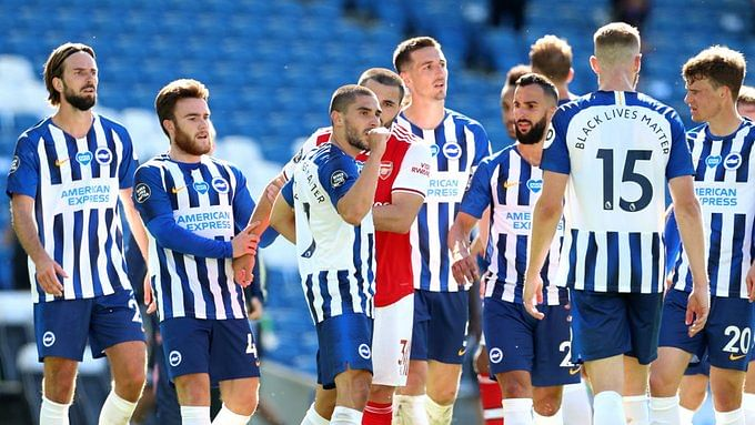 Premier League: Brighton triumph over Arsenal as Neal Maupay scores in stoppage time