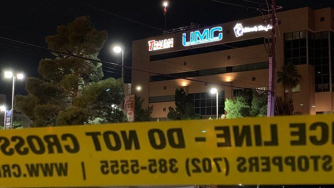Shots fired in Vegas: Two separate shooting incidents leave cop on life support and a man dead