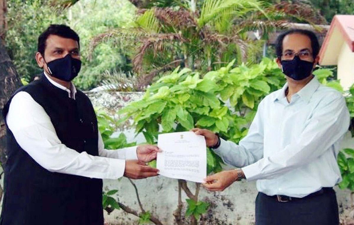 Cyclone 'Nisarga' aftermath: Fadnavis meets CM