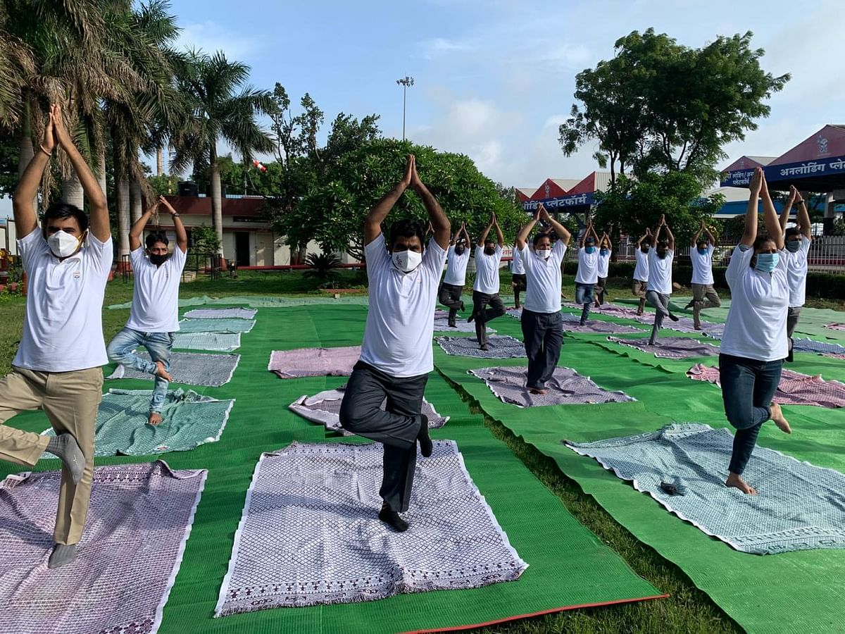 HPCL celebrates 6th International Yoga Day