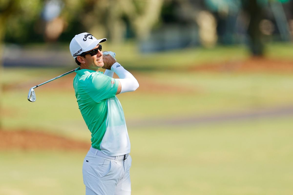 Dylan Frittelli of South Africa plays a shot on the 16th hole during the first round of the RBC Heritage on June 18, 2020 at Harbour Town Golf Links in Hilton Head Island, South Carolina.