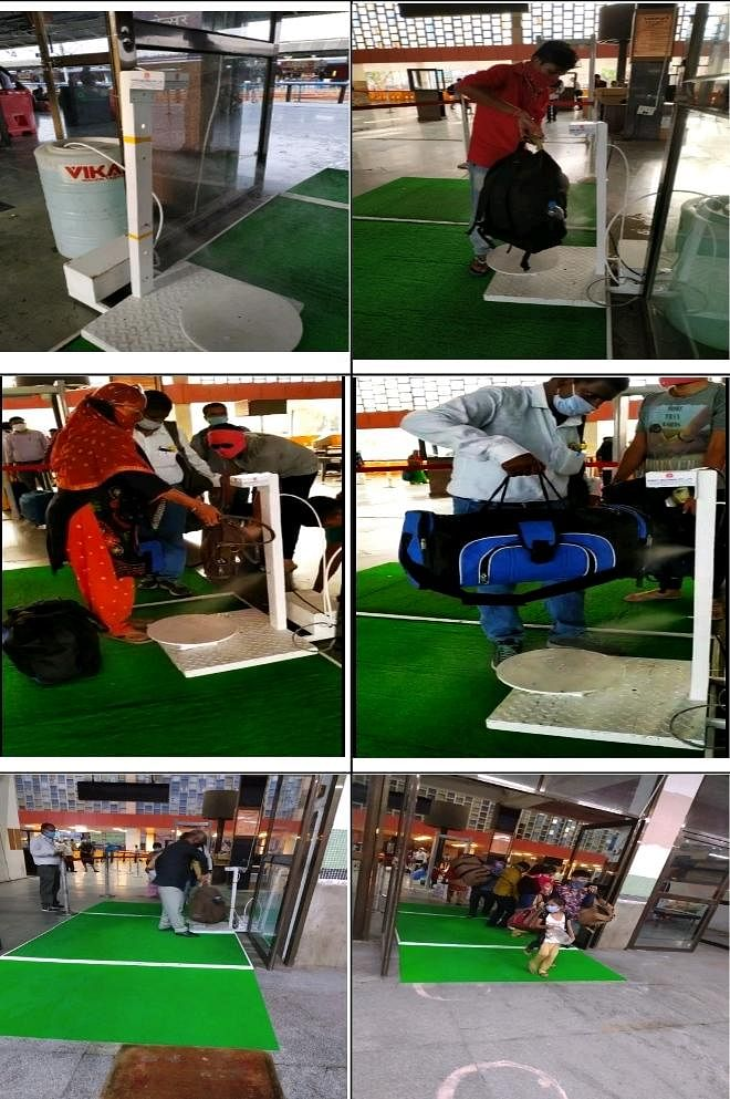 Western Railway installs touch-free sensor-operated passenger luggage sanitizing machine at Ahmedabad Rly station