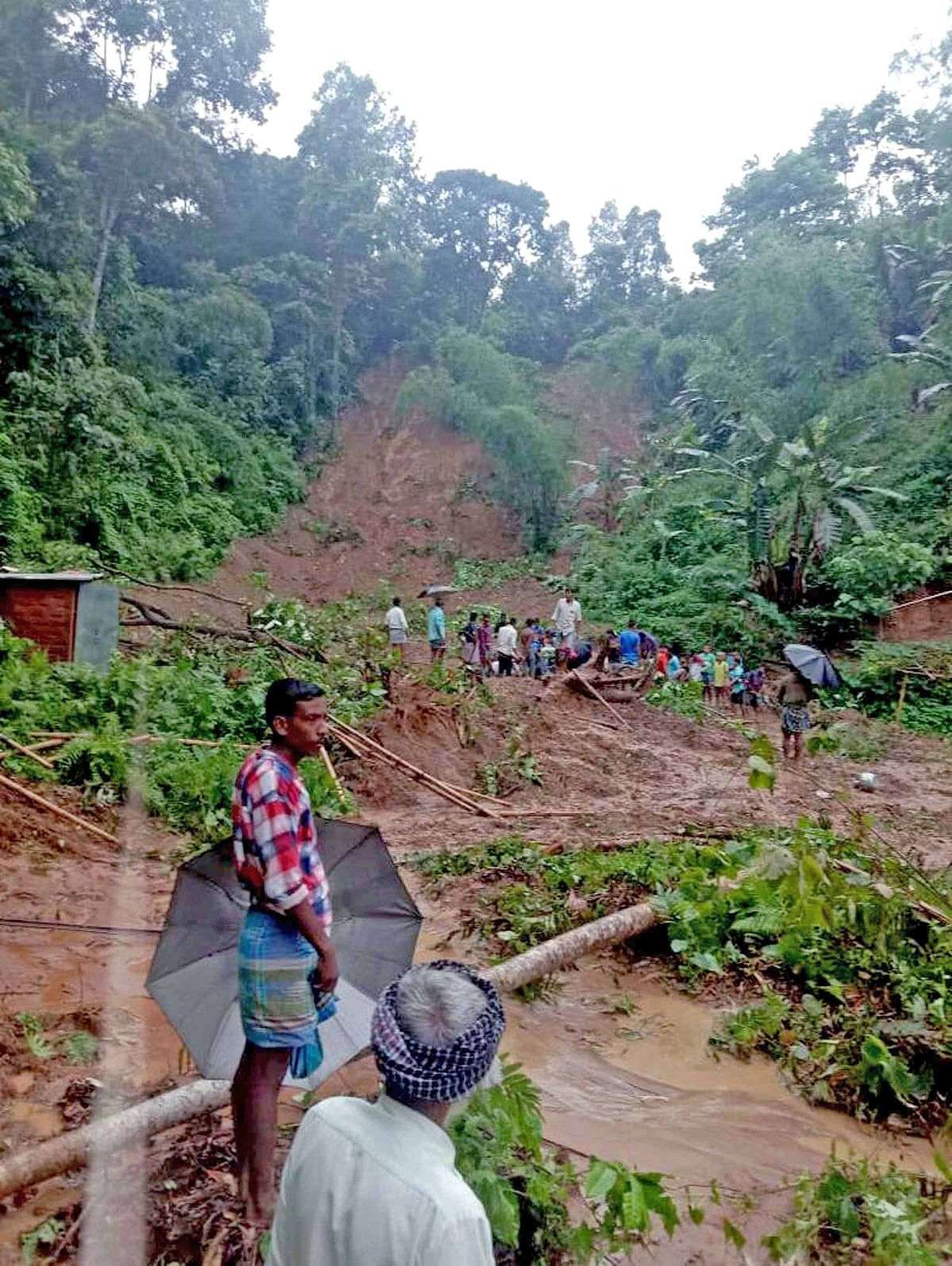 At least 20 killed in landslides in Southern Assam, several others injured