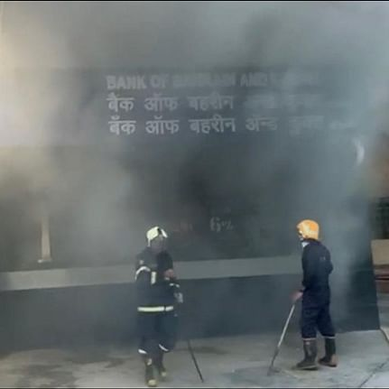 Mumbai: Fire breaks out in office of Bank of Bahrain and Kuwait at Nariman Point; none hurt