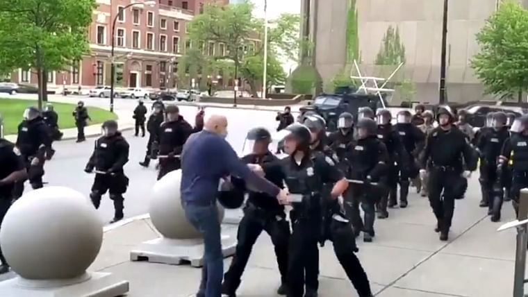 George Floyd protests: Video of US cops pushing 75-year-old to ground during protests goes viral, two officials suspended