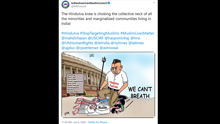 'We can't breathe': Indian American Muslim Council's George Floyd inspired tweet draw netizens' ire