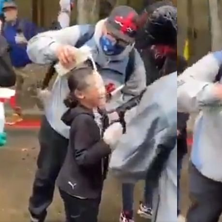 George Floyd Riots: Horrifying video of milk poured on child's face after being allegedly pepper-sprayed by police