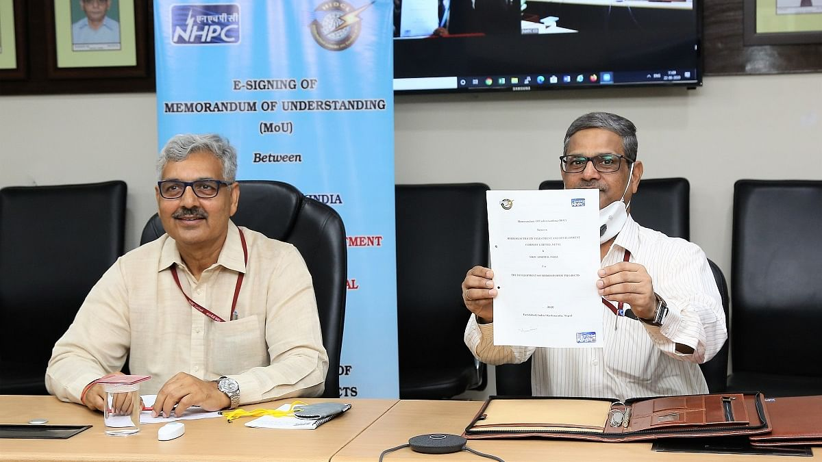 NHPC signs MOU with HIDCL, Nepal for development of hydropower projects in Nepal