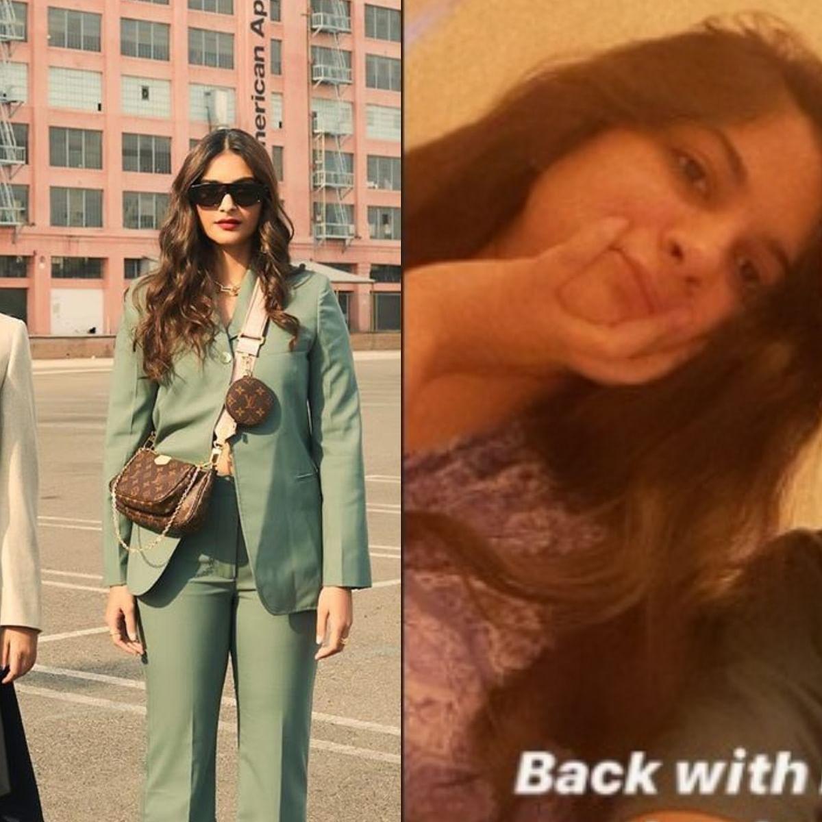 Sonam Kapoor reunites with sister Rhea as she flies back home to Mumbai