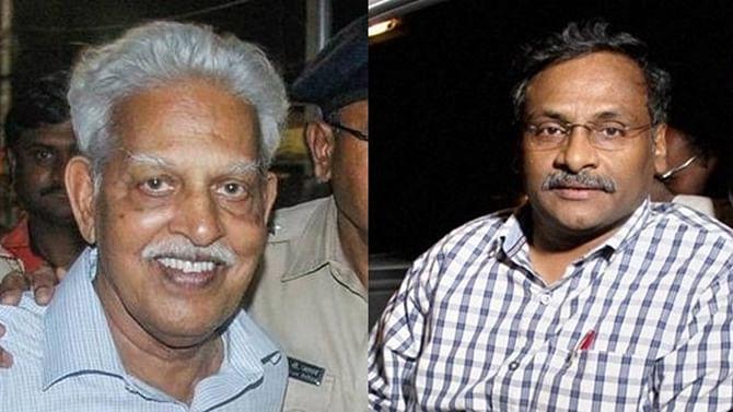 Varavara Rao (R) and Professor G.N. Saibaba (L)
