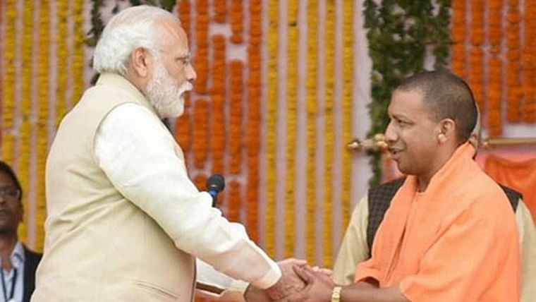Narendra Modi and Yogi Adityanath.