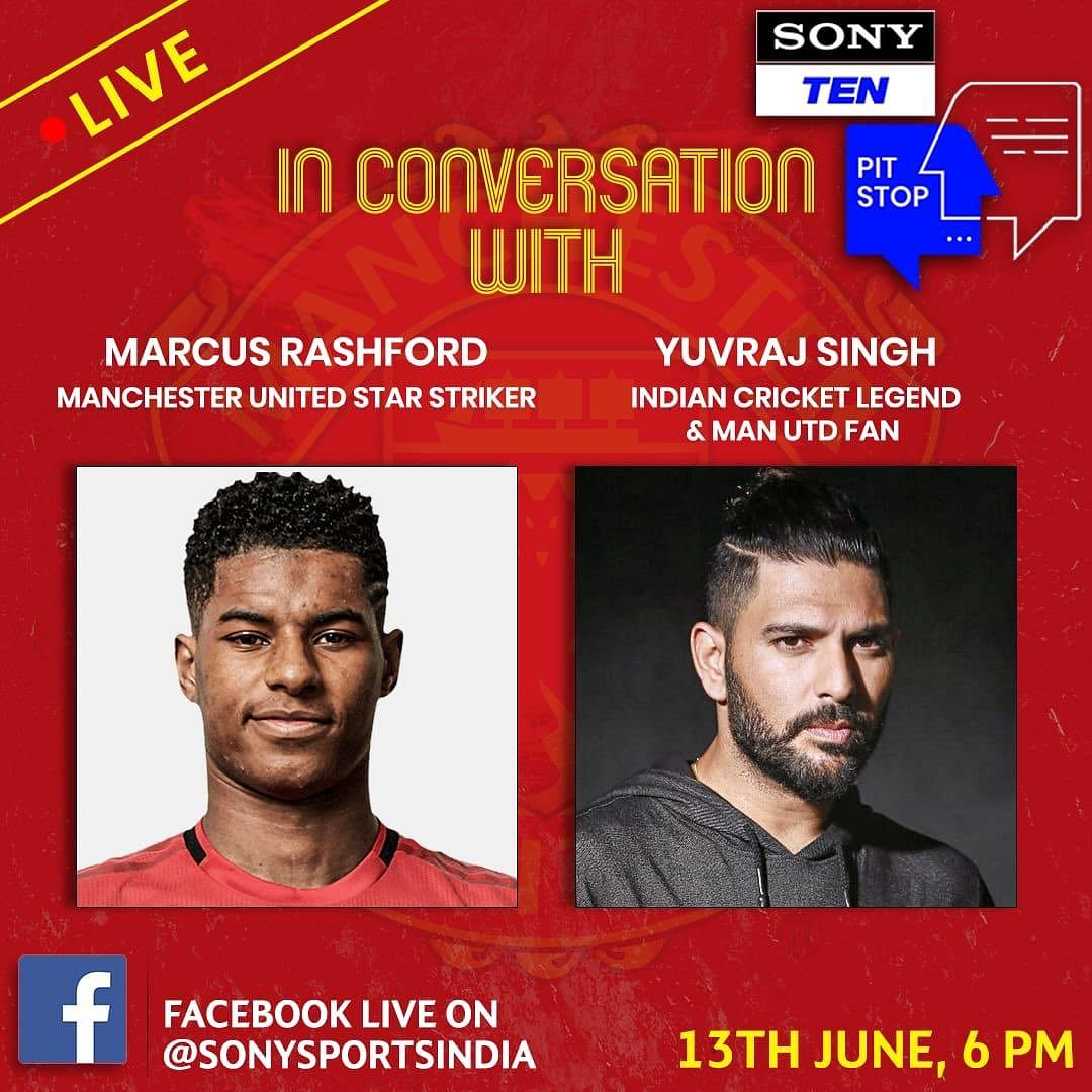 Yuvraj Singh to join Man Utd striker Marcus Rashford for live interaction session on June 13 at 6 PM