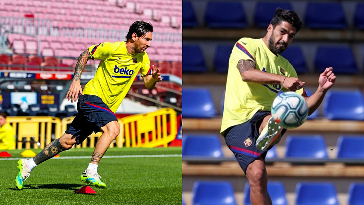 Messi, Suarez return to training ahead of Barcelona's clash against Mallorca on June 13