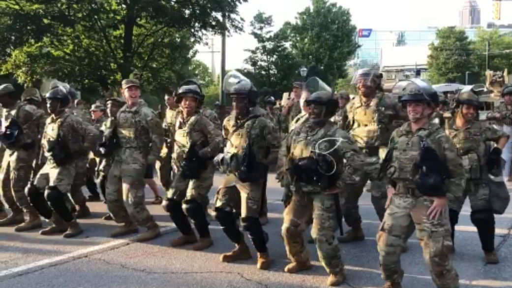 George Floyd Protest: Watch National Guards groove to Macarena in Georgia; Twitter has mixed reactions