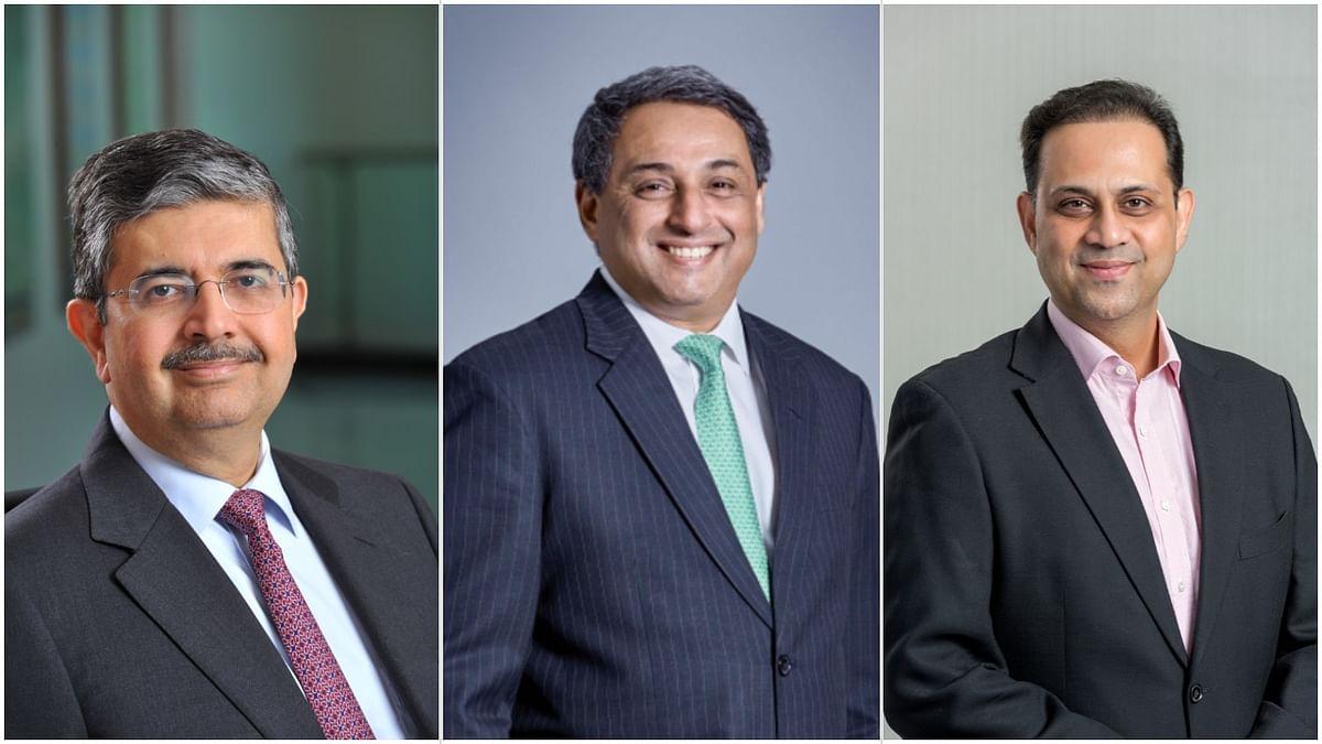 CII's new officer bearers for 2020-2021: Kotak Mahindra Bank's Uday Kotak; Tata Steel's T V Narendran; and Bajaj Finserv's Sanjiv Bajaj