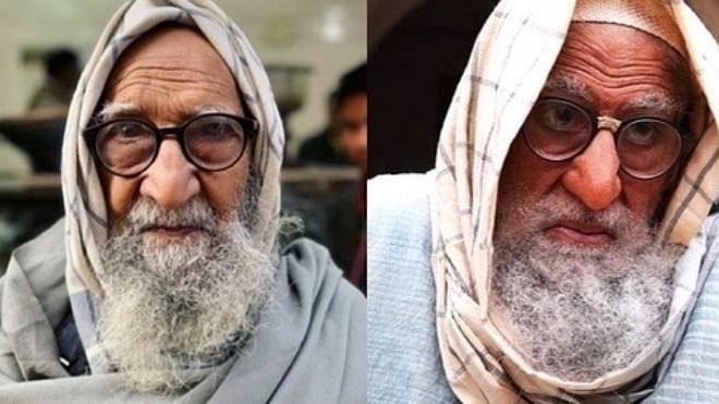 Old man from Delhi shares an uncanny resemblance to Amitabh Bachchan's 'Gulabo Sitabo' look