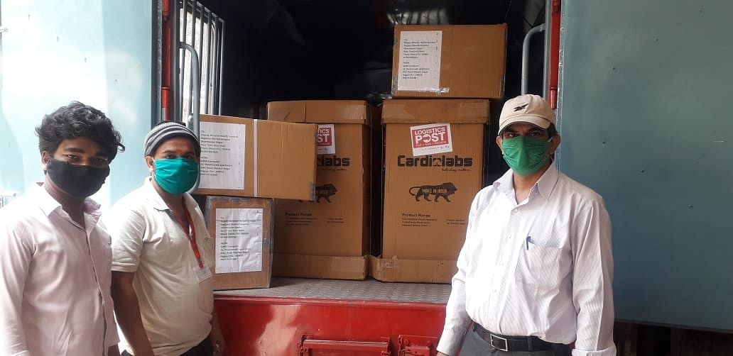 Ventilators delivered within 24 hours from Nagpur to Thane through India Post Railway Parcel Service