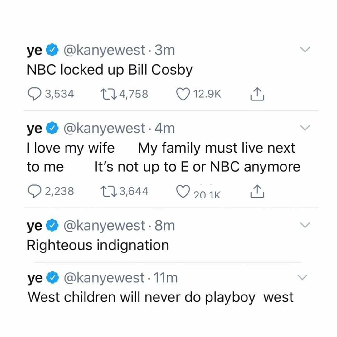 Kanye West's Twitter meltdown - check out all deleted tweets