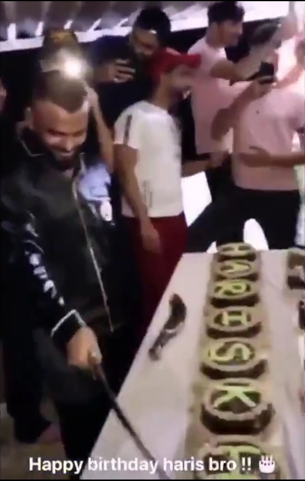 How to celebrate birthday in times of COVID-19 outbreak: A sword, 25 cakes and cops
