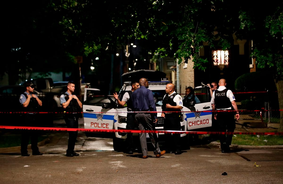 Shooting outside Chicago funeral home injures 15 people