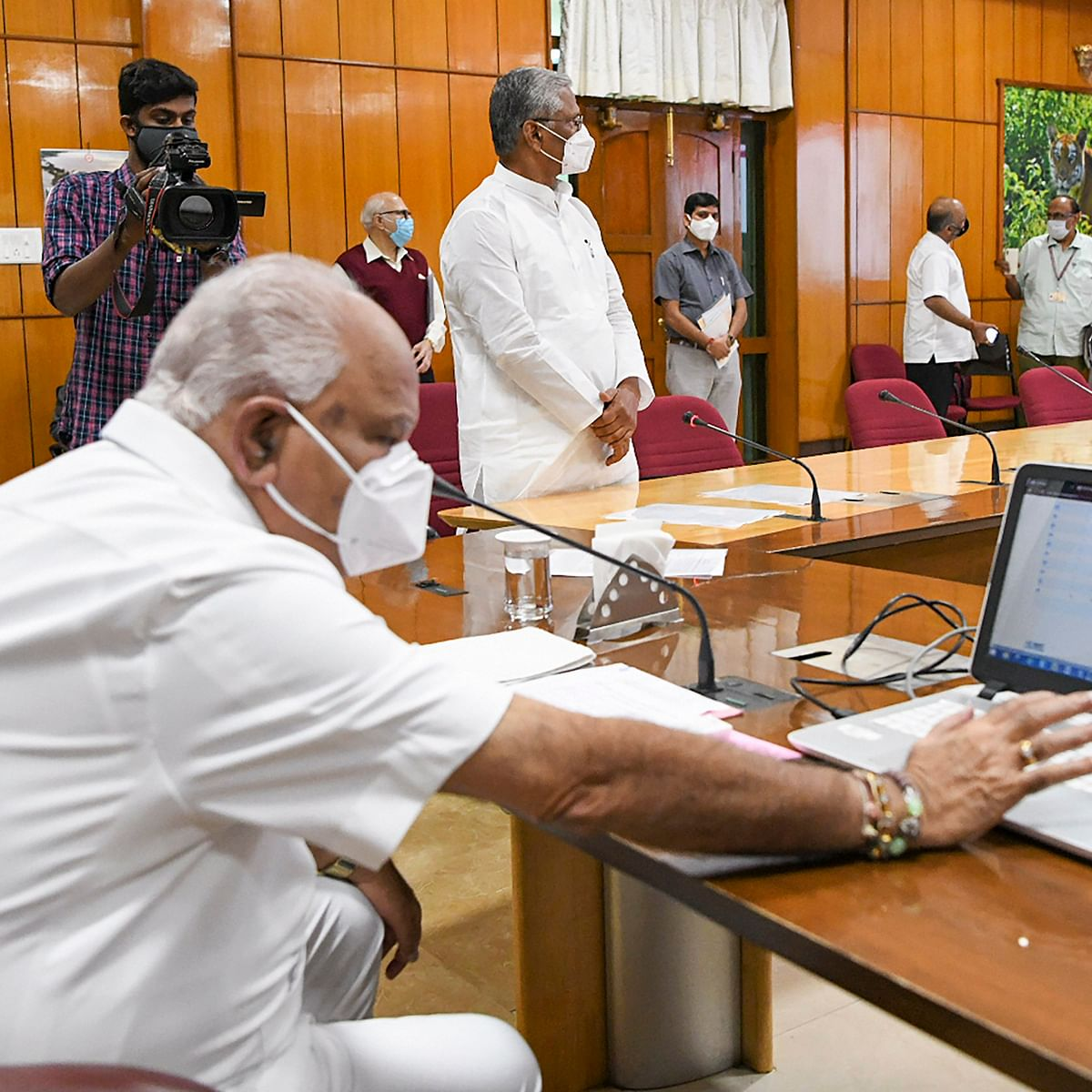 Karnataka CM B S Yediyurappa under home quaranatine after staff test positive for COVID-19