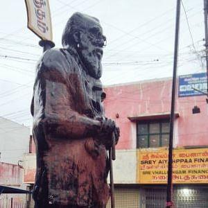 Periyar's statue found smeared with saffron colour in Tamil Nadu