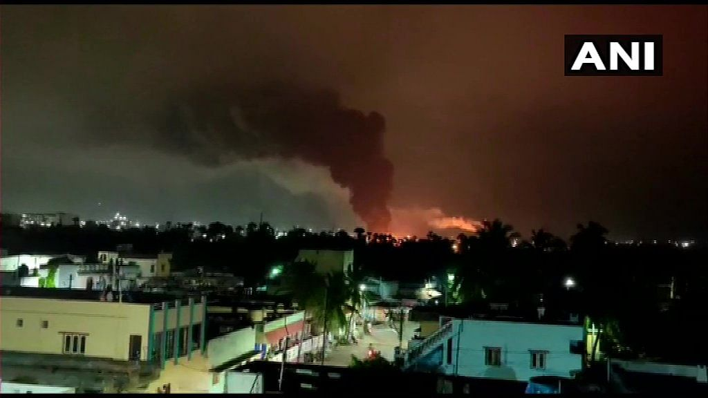 Fire breaks out at pharmaceutical unit in Visakhapatnam district; one missing, one being treated for injuries
