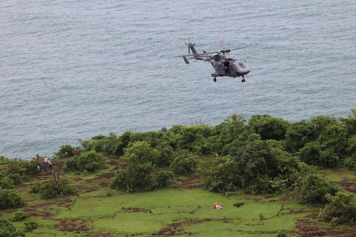 Navy helicopter assists in recovering a body from Goa