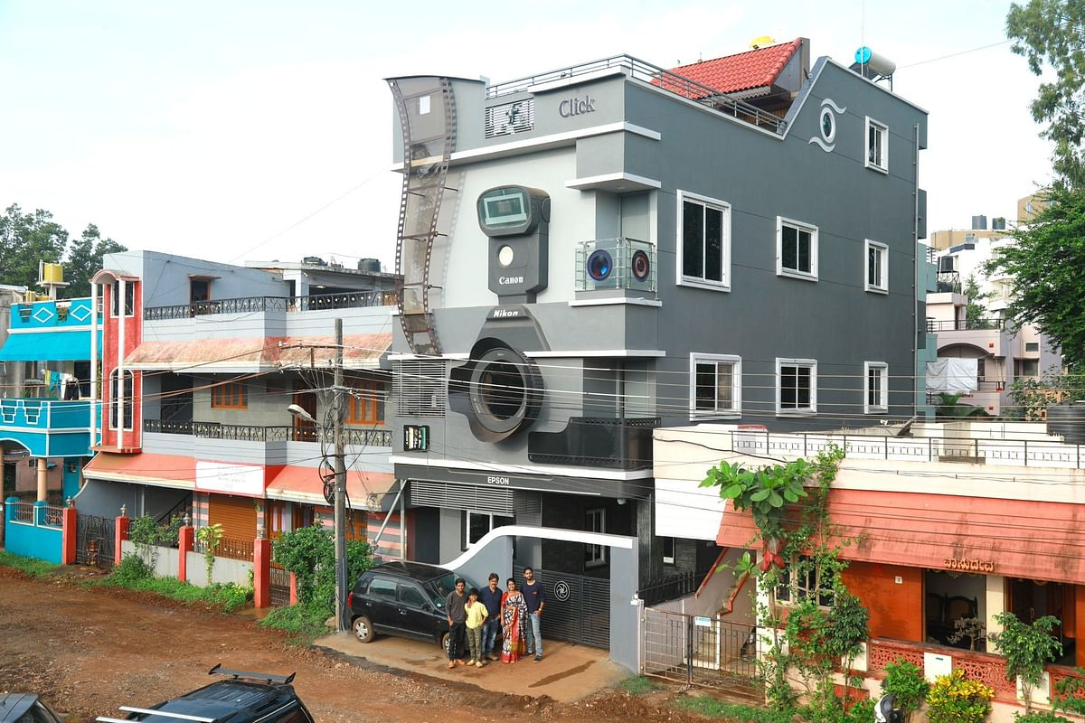 Karnataka photographer builds 'camera' house called 'Click'; his sons are named as 'Canon', 'Epson' and 'Nikon'