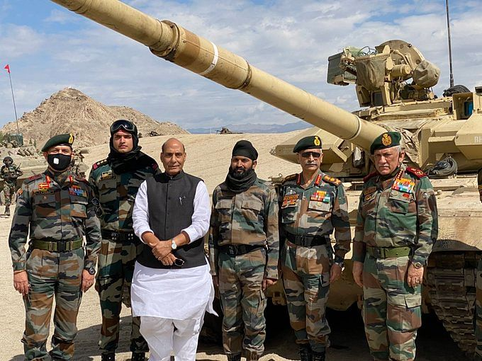 Beware dragon: Defence Minister Rajnath Singh review forces preparedness at Leh; pictures here