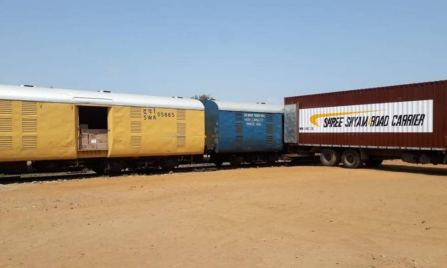 157 parcel trains run on SWR carrying essentials