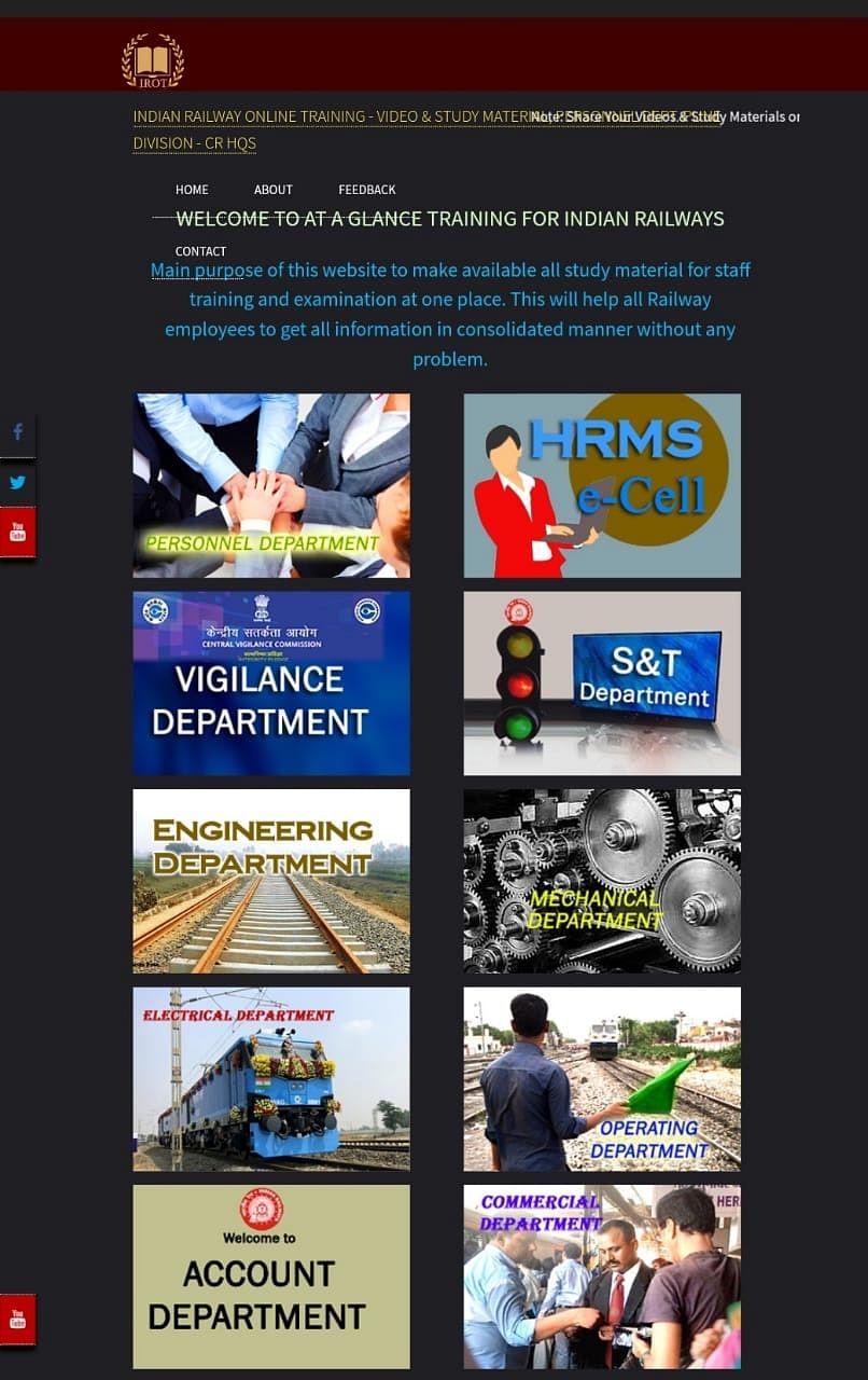 Pune division team develops the Central Railway staff online training website