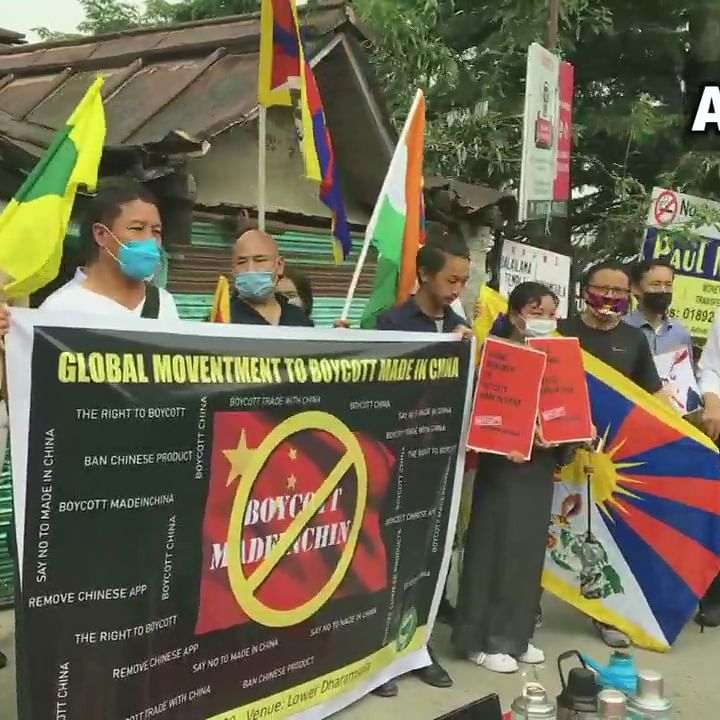 Tibetan Youth Congress burns Chinese flag, Xi Jinping's effigy during protest in Dharamshala