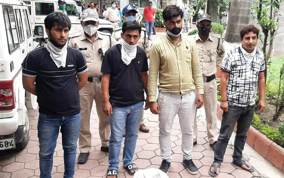 Four traders of Ranipura Market arrested for selling fake cosmetic products.