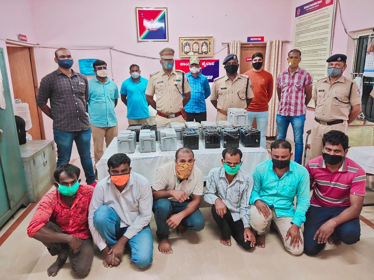 SWR Railway Protection team busted a gang involved in thefts of batteries from railway coaches